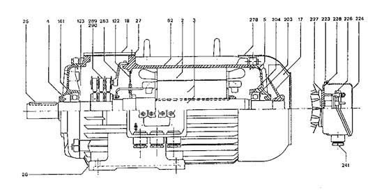 Motor electrico dibujo tecnico