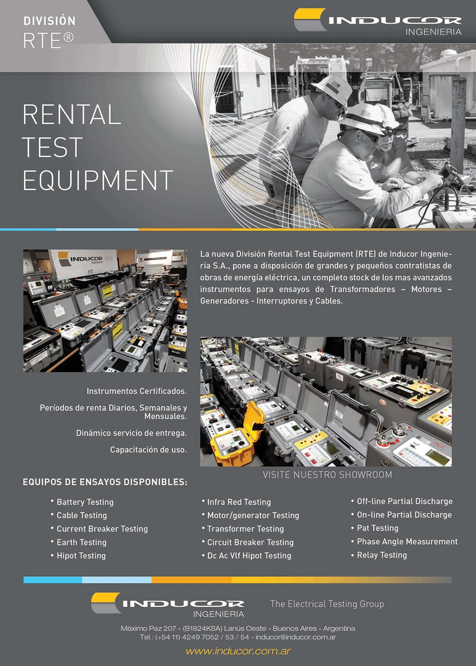 rental test equipment